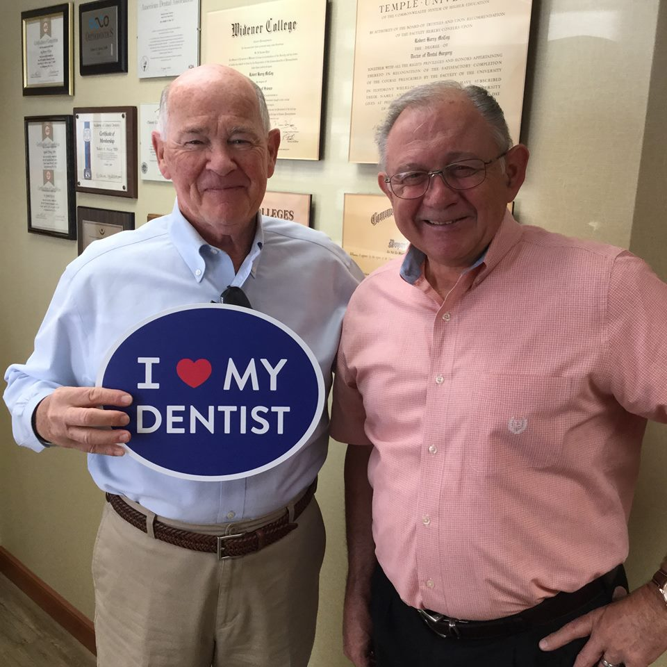 male patient with dentist